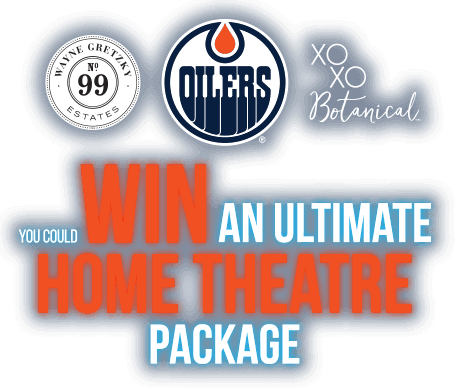 Enter for a chance to WIN an Ultimate Home Theatre Package from XOXO Wines and Wayne Gretzky Estates.